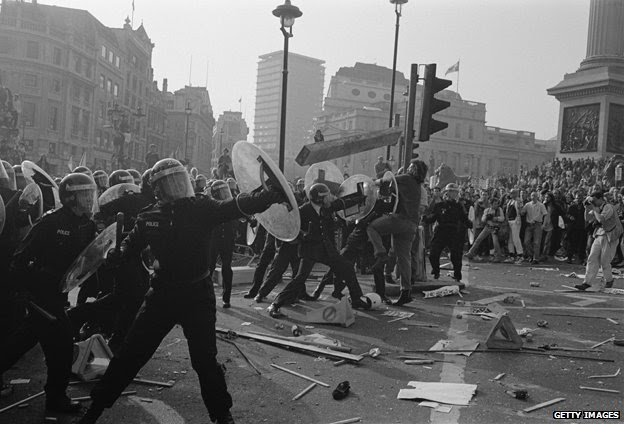 Poll tax riot, 1990