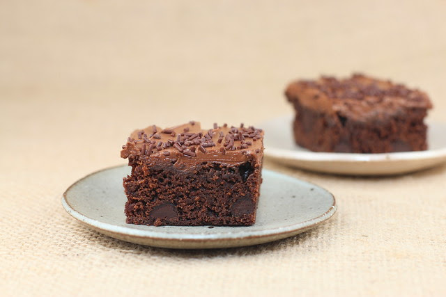 Chocolate Brownies with Frosting