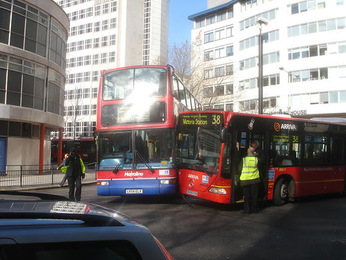 Bus collision