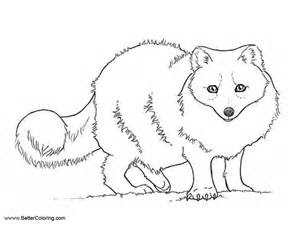 arctic tundra animals coloring pages arctic fox