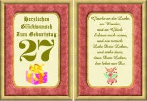 Geburtstagsspruch Zum 27 Geburtstag Hylen Maddawards Com