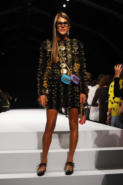 Anna Dello Russo at Moschino