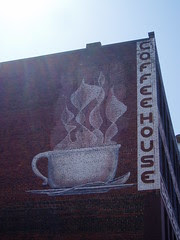 coffeehouse mural