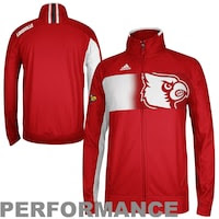 adidas Louisville Cardinals Sideline Player Warm-Up Full Zip Performance Jacket - Red