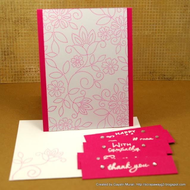 Pink card set