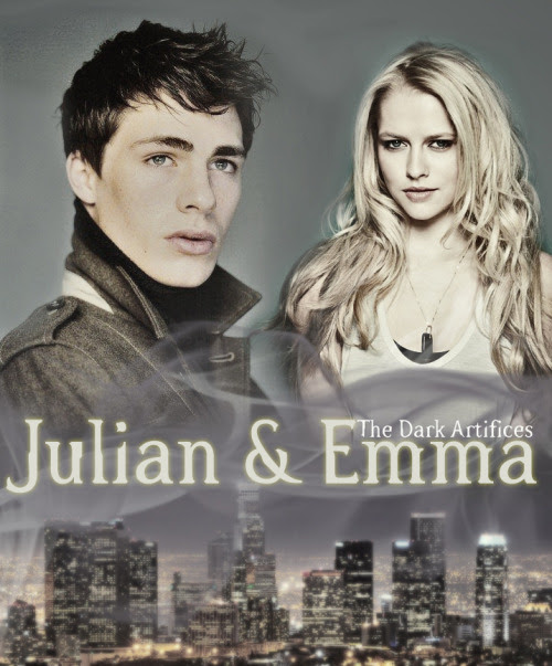 Vania is my squidling! She made me a Julian and Emma graphic. *loves* I will quit posting about the Dark Artifices soon enough, I am just still excited I finally get to talk about it!