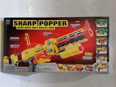 jual mainan anak cowok pistol otomatis peluru busa gun