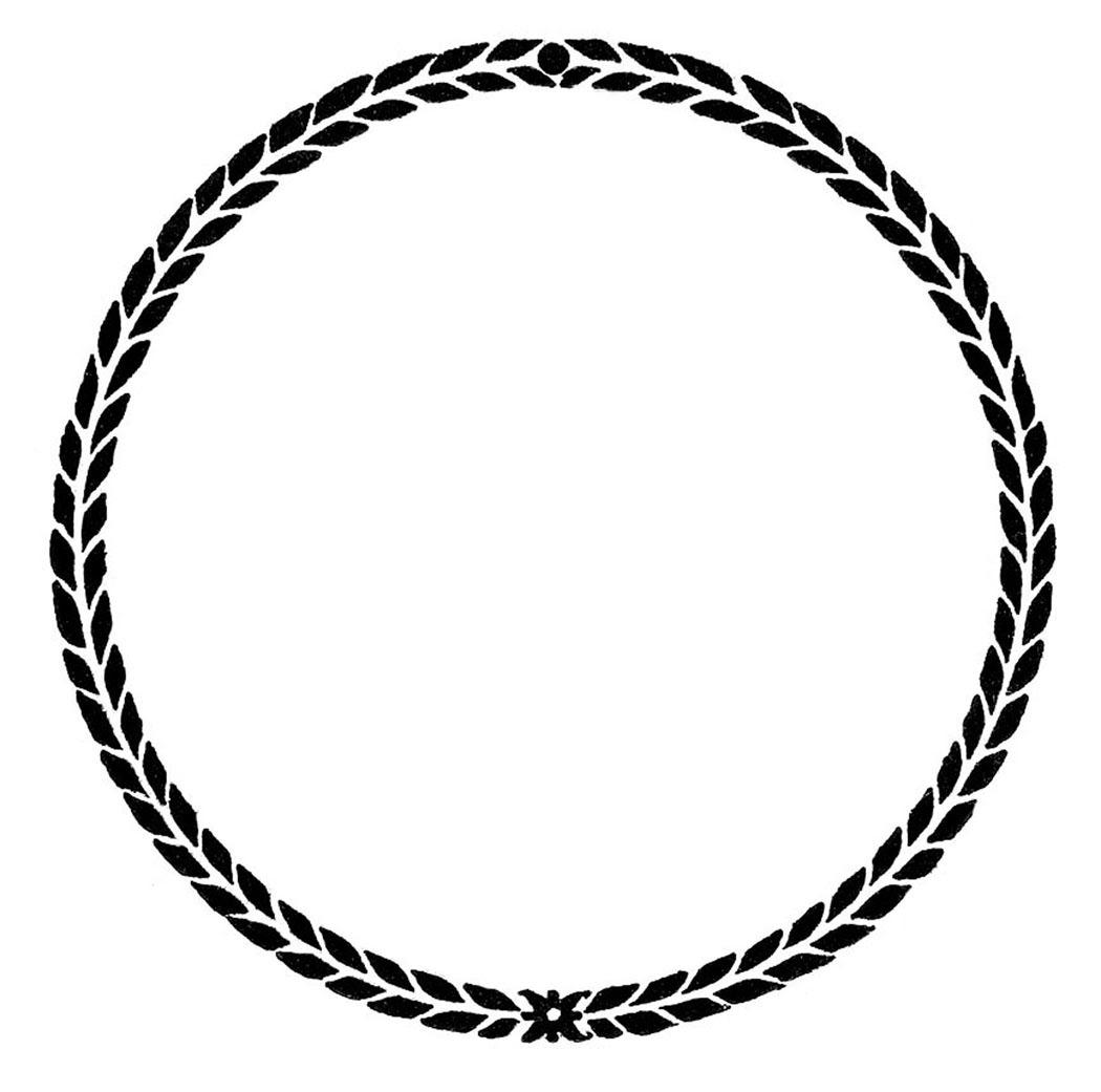 Blank Vintage Circle Logo - Calendar June