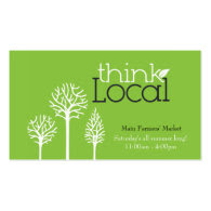 Farmers' Market Business Card
