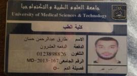 Tarik Hassane, the medical student who is a suspect at the centre of the IS-linked terror plot investigation