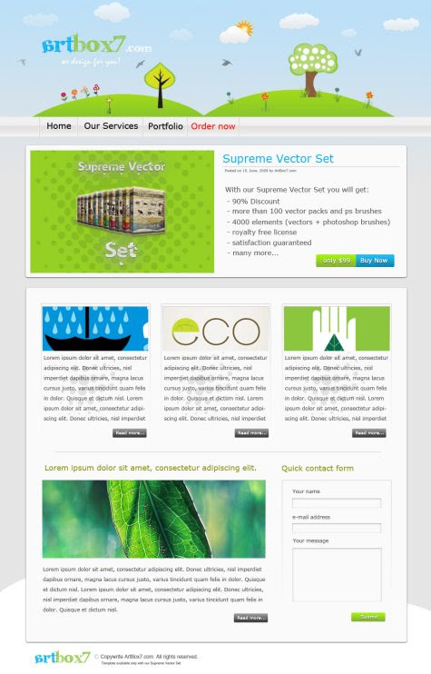 Create a Green/Eco-Friendly/Environmental Web Layout