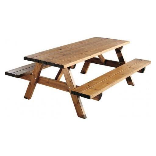 Table Et Chaises De Terrasse Table Picnic Bois