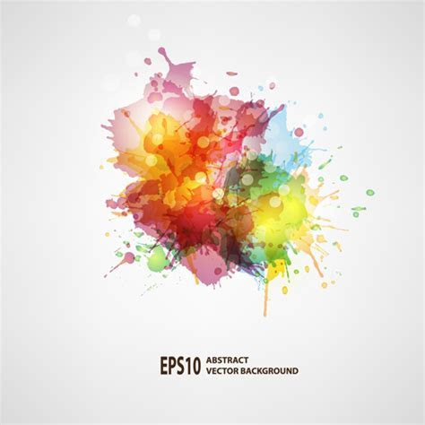 Splash watercolor blots abstract background vector 02 free