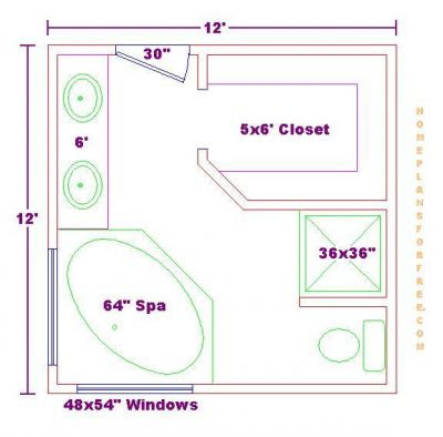 Bathroom Plans on Free Bathroom Plan Design Ideas   Master Bathroom Design 12x12 Size