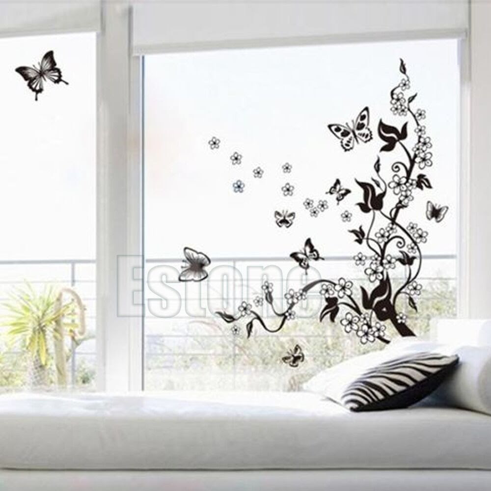 Removable Butterfly Flower Wall Art Decal Vinyl Stickers Home Mural DIY Decor  eBay