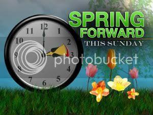 Spring Forward, Daylight Savings Begins