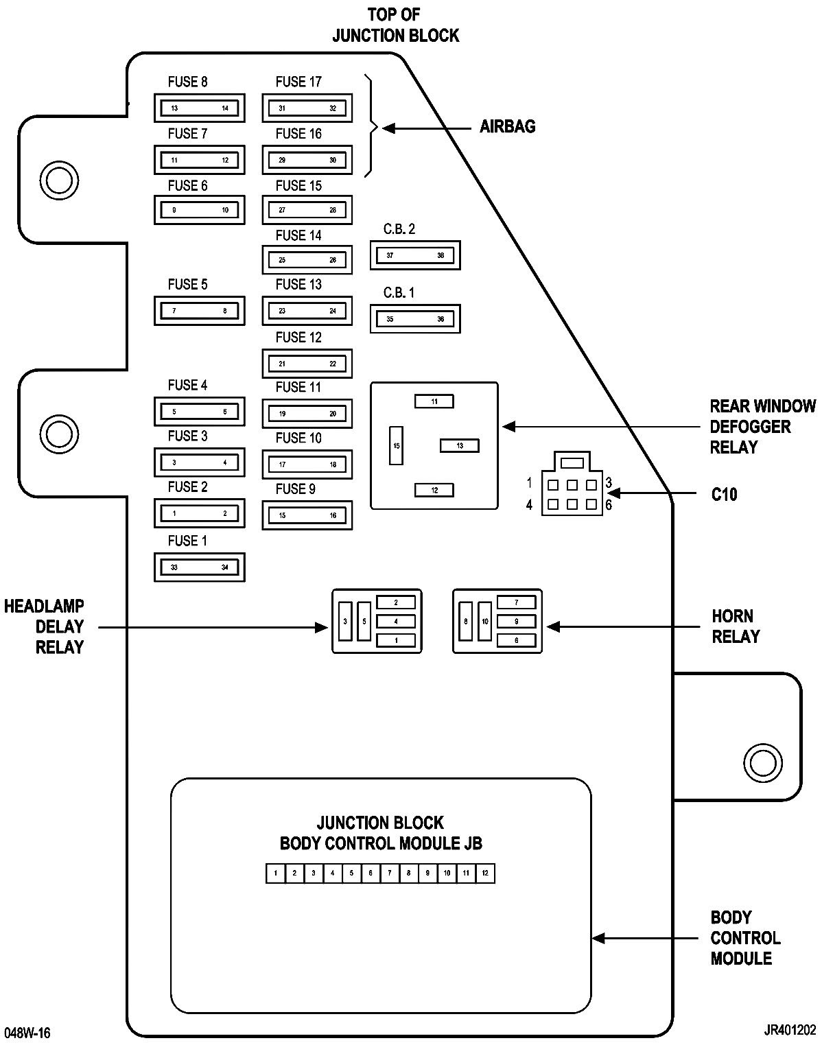 33 2002 chrysler sebring fuse box diagram