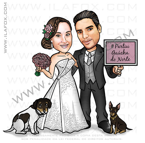 caricatura noivos, caricatura casamento, caricatura noivinhos, caricatura casal, caricatura para casamento, caricatura bonita, caricatura sem exagero, caricatura by ila fox