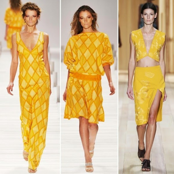 amarelo entre as tendências para a Primavera Verão 2015