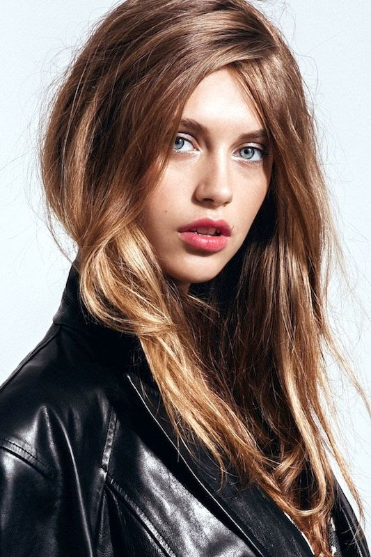 Le Fashion Blog 5 Easy Hairstyles For When You're Running Late Lazy Girl Hair Textured Tousled Waves Metallic Eyes Berry Lips Leather Jacket Via Refinery29
