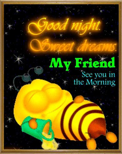 Bee Says Gnite. Free Good Night eCards, Greeting Cards