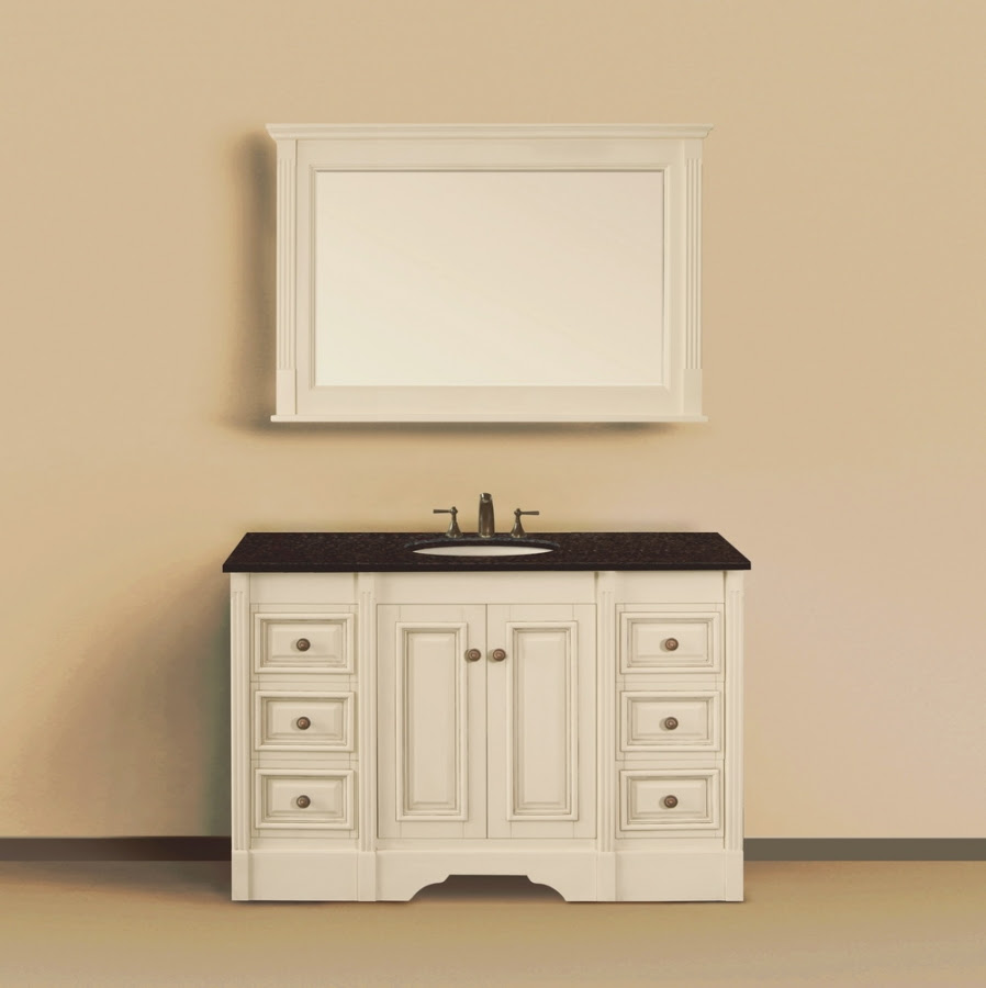 48 Inch Single Sink Bathroom Vanity with Extra Storage ...