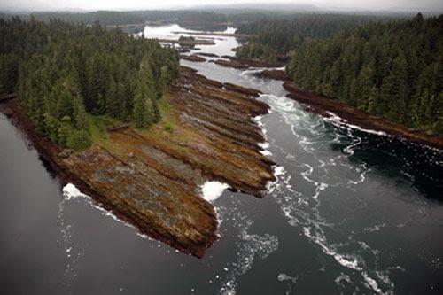 jpg Tidal rapids in a lagoon near Angoon, Alaska