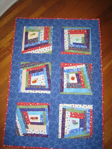 top view of P_K baby quilt