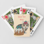 cute kitten gray tabby pudding christmas bicycle playing cards