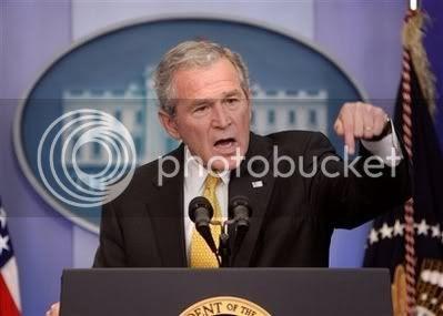 Bush Shows Vertical Insertion
