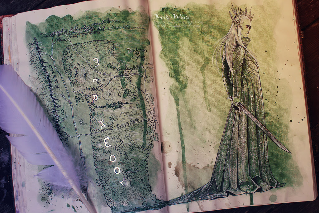 Hobbit Watercolors by by Kinko-White