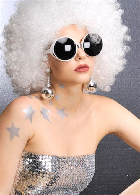 70's Disco Ball Earrings [BA576]   Struts Party Superstore