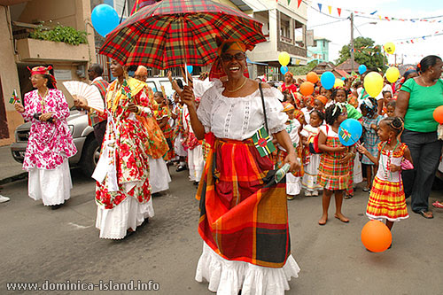 Creole Woman with Umbrella - Photo of Creole Dress Parade in Creole Day, 2008