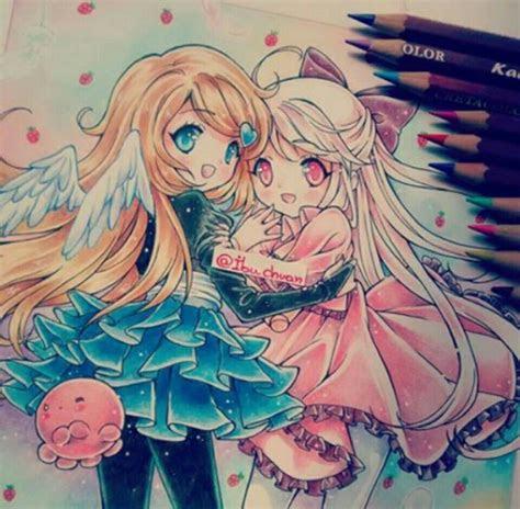 des chibis magnifiquement dessine cute stuffs pastels