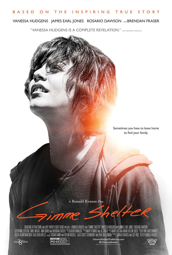 E! Online debuts the poster for Vanessa Hudgens' inspiring new film Gimme Shelter! Check out how Vanessa found inspiration for her role as Apple: http://eonli.ne/1bFjY5K