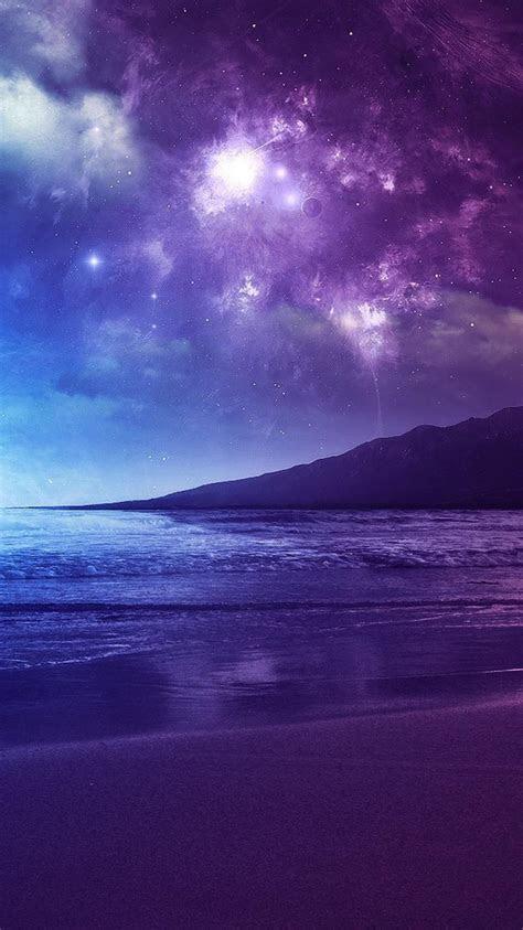 blue twilight violet skies beach wallpaper