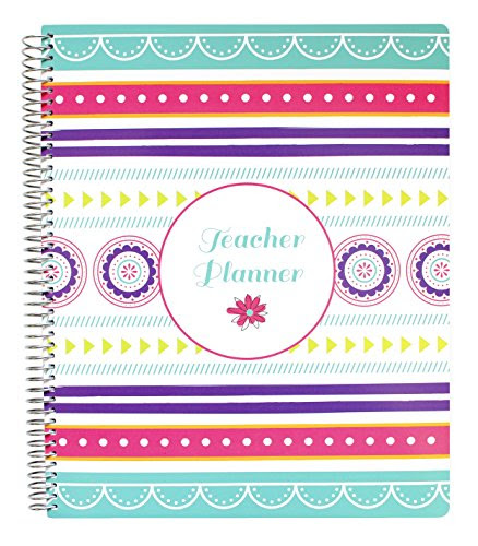 Bloom Daily Planners Mint Stripe Undated Academic Year Teacher ...