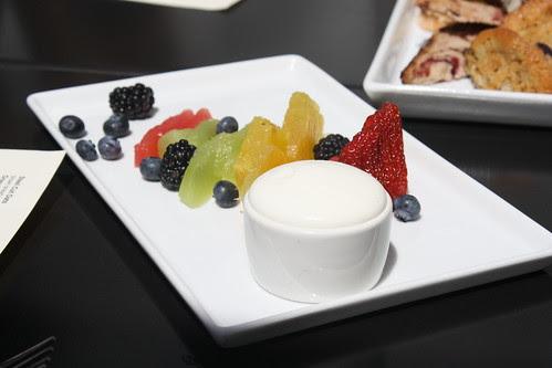 Fruit Plate with Greek Yogurt at Vu