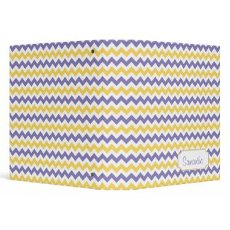 Purple Yellow White Chevron Pattern Personalized