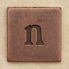 Copper Square Letter n