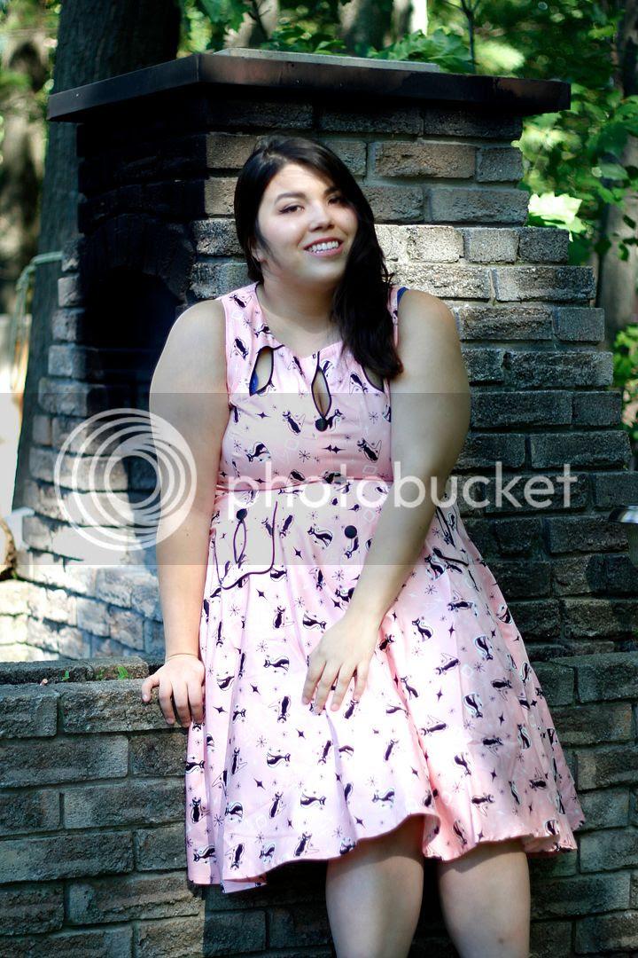 Voodoo Vixen Plus Size Fashion Canada Plus Size Cat Dress canadian plus size blogger