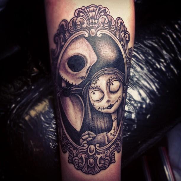 Jack And Sally Frame Tattoo Tattoomagz