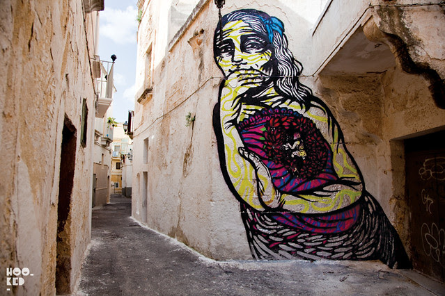 Italian Street Art Festival 'FAME'  with work from Bastardillia