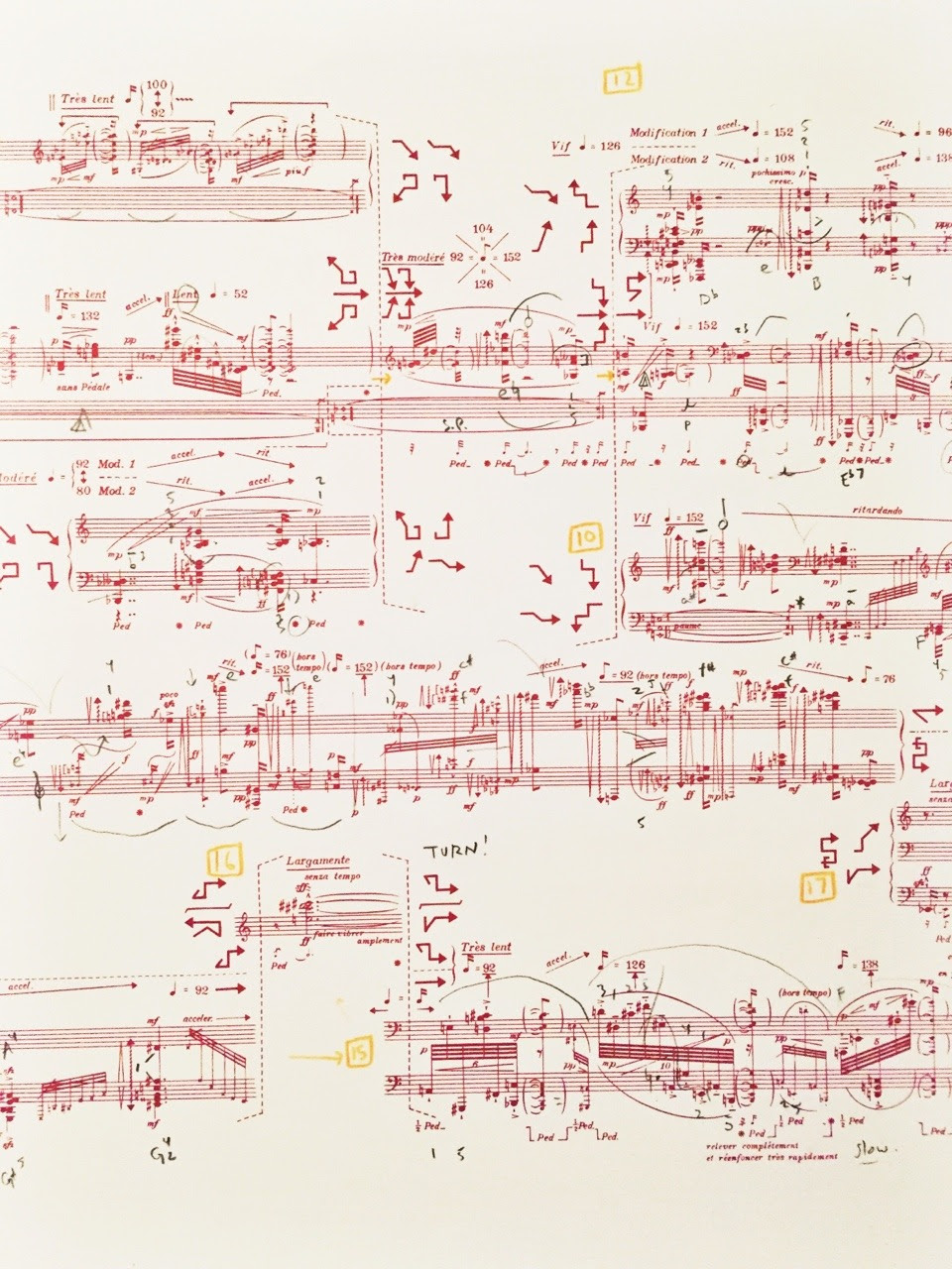 Sonata no. 3, Constellation-Miroir.  by Pierre Boulez