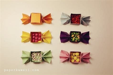 Origami Candy Shaped Box Tutorial · How To Fold An Origami