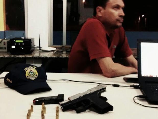 Prefeito de Lagoa Grande (MA) foi detido pela PRF (Foto: Divulgação / PRF-MA)