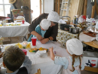 Still More Sue & Children Working on Crafts