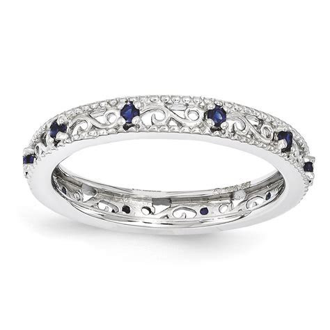 Stackable Expressions Sterling Silver Created Sapphire
