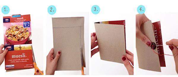 cortar e dobrar papelão