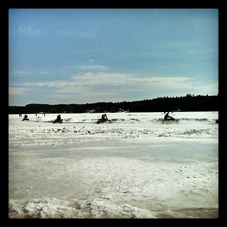 Watching #ice #racing on the lake #iceracing